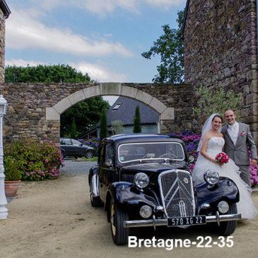 Voiture de mariage au Manoir de Kermodest.