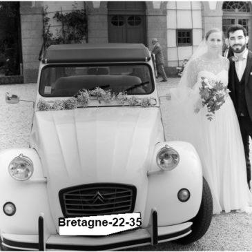 Louer une 2cv pour votre mariage dans le 22 et le 35