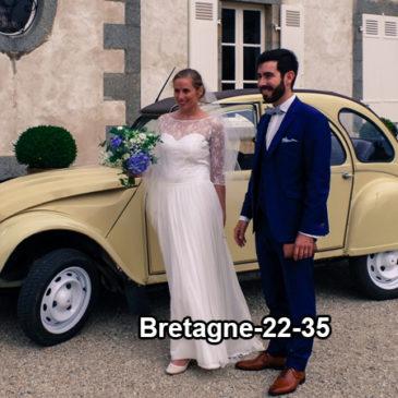 Mariage magique dans une 2cv en Bretagne, c'est possible!