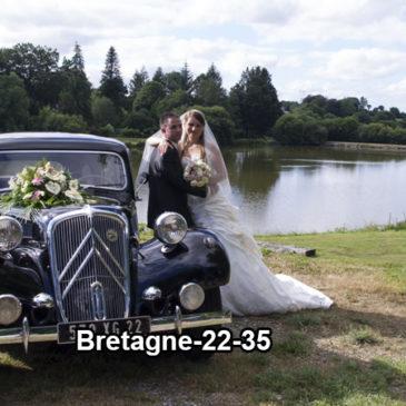 Location de voiture pour mariage dans le Mené