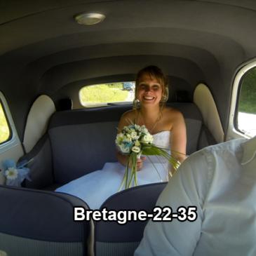 Voiture ancienne pour mariage à louer dans le 22 et le 35
