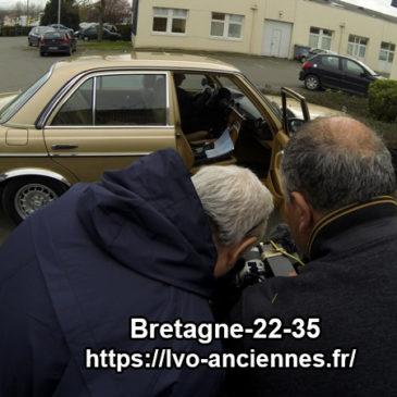 Tournage de film années 80 avec la Mercedes 230E